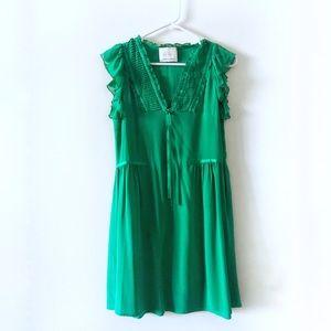 Madison Marcus green silk dress